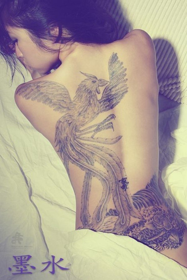 bird women's full back tattoo designs 2021