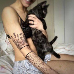flowers cute girl tattoos on arm design ideas