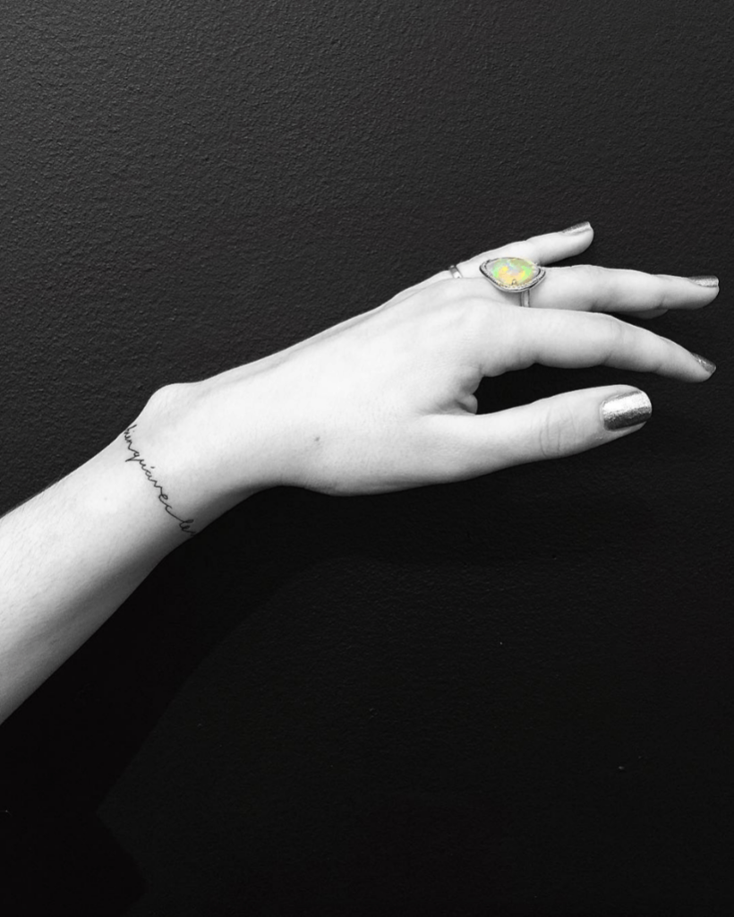 side wrist tattoos for female