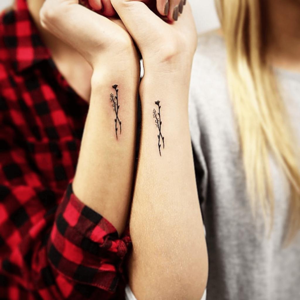 black flower girl wrist tattoo ideas