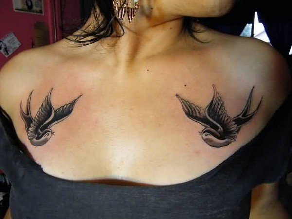 bird female breast tattoo designs