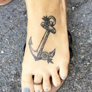 anchor temporary foot tattoos