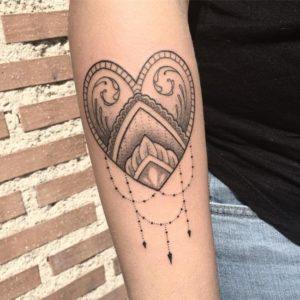 temporary sleeve tattoos female mandala design on arm