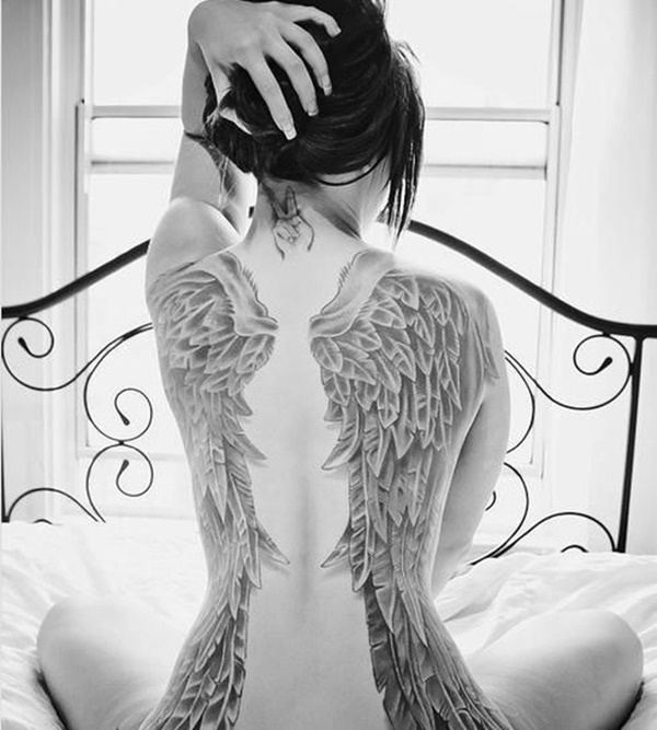 wing ladies back tattoo ideas images 2021