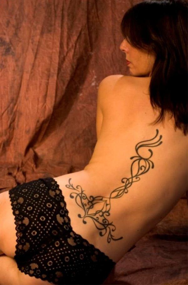 black female bum tattoos