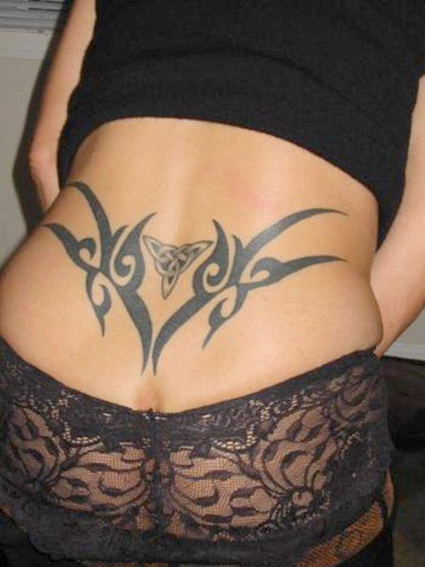 tribal butt tattoo design  girls women