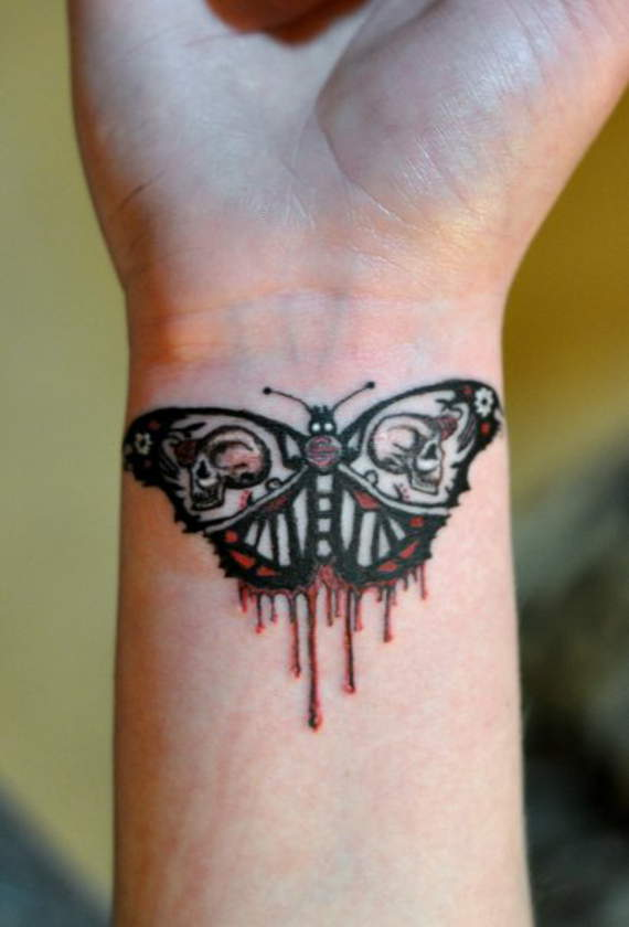 butterfly latest tattoo designs for ladies wrist
