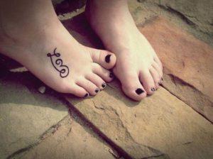 letters beautiful foot tattoo designs