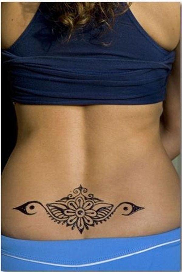 creative mandala flower butt tattoo design
