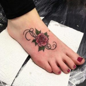 rose henna tattoo designs for feet and legs