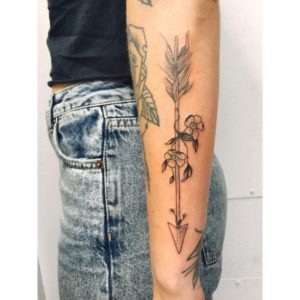 black arrow beautiful arm tattoos for females images
