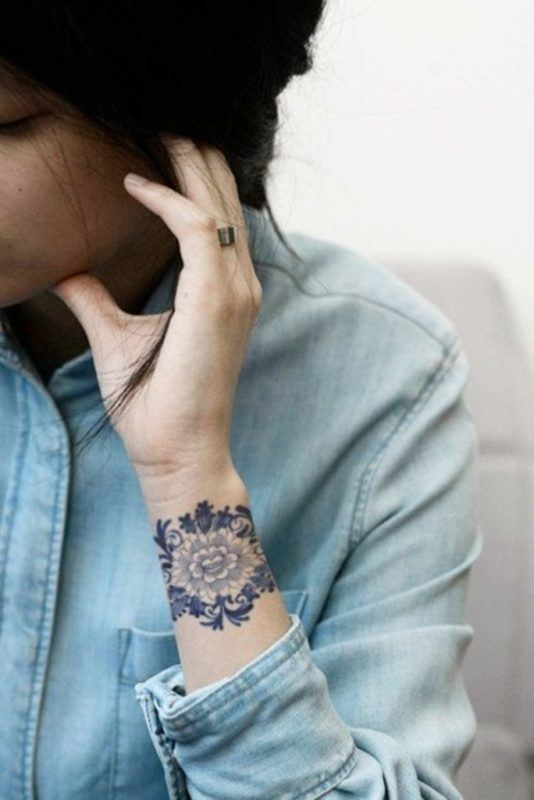 mandala tattoos for women's wrists pictures