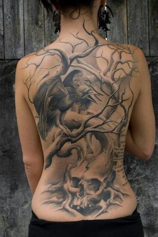 tattoo design back for girl design ideas images