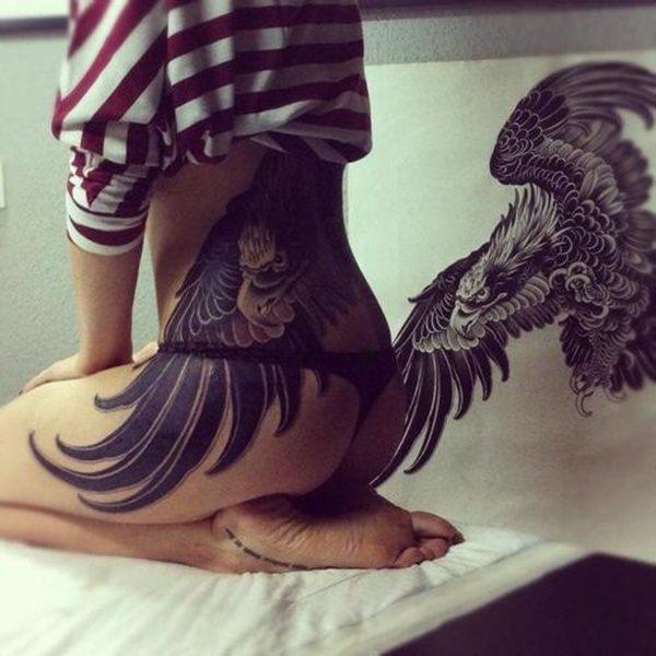 bird bum tattoos for ladies