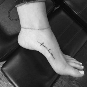 small letters tattoos for womens feet