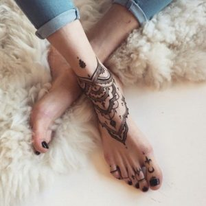 mandala tattoo on my foot
