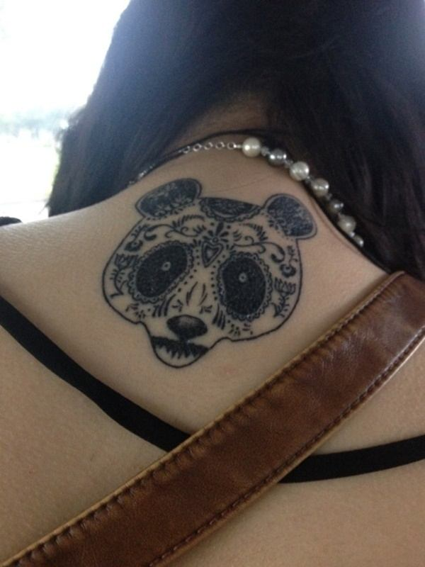 panda ladies back tattoo design images