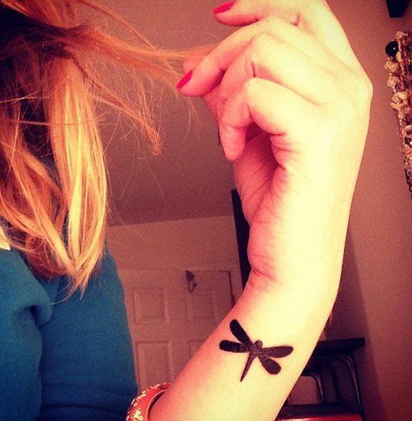 black small tattoo ideas for womens wrist
