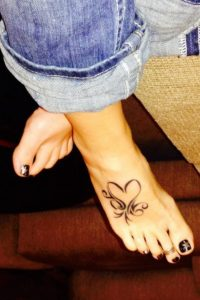 small butterfly tattoo on foot images