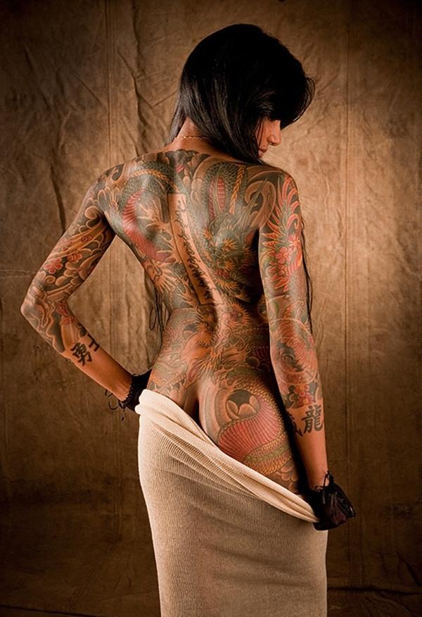 japan butt body art tattoo design  woman