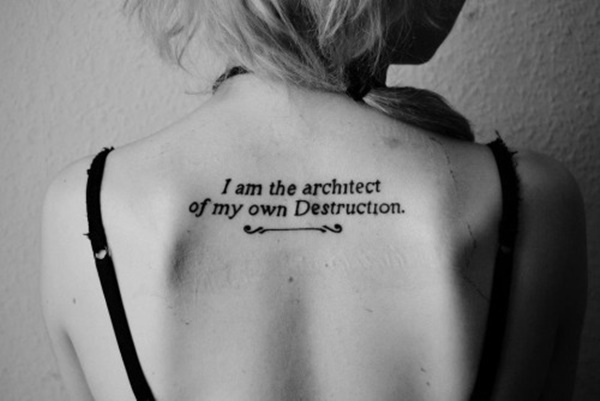 spine tattoo quotes for females