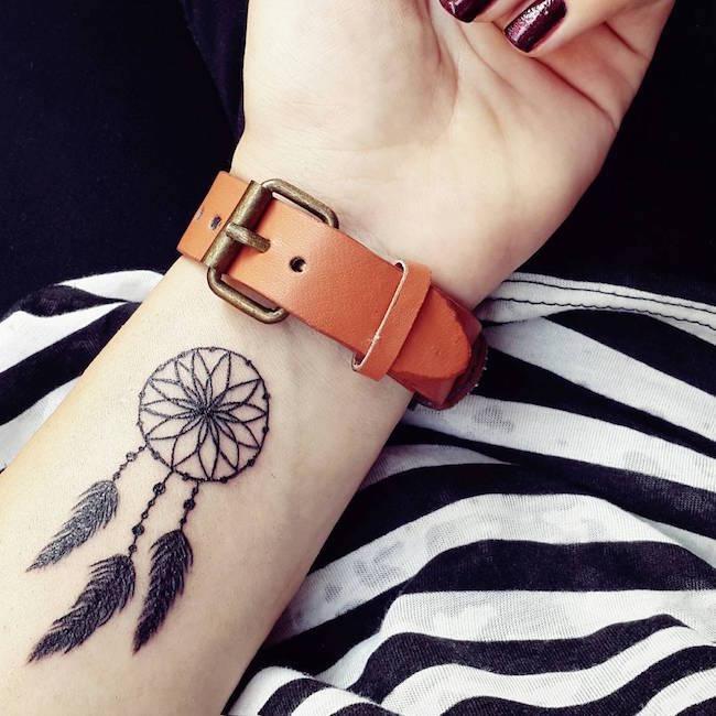 mandala cute wrist tattoos for females design
