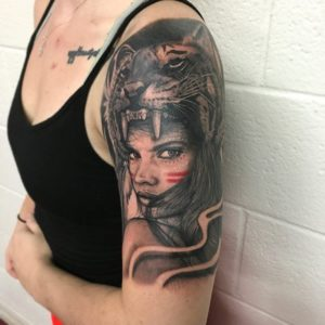 black panther women's simple arm tattoos