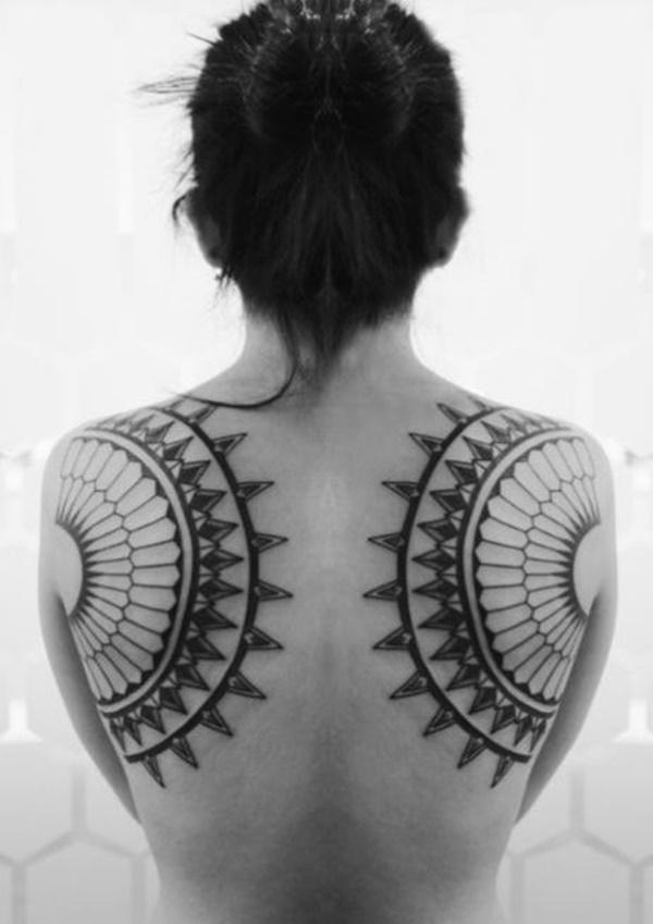 best back girl tattoo designs images