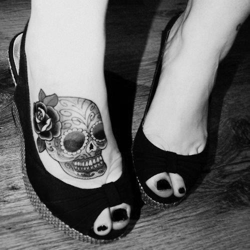 best foot tattoo for ladies