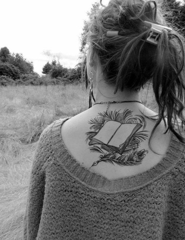 best tattoo on neck back for girl images