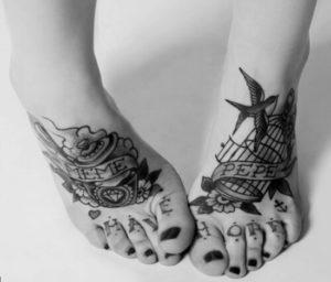 foot tattoo designs for ladies images