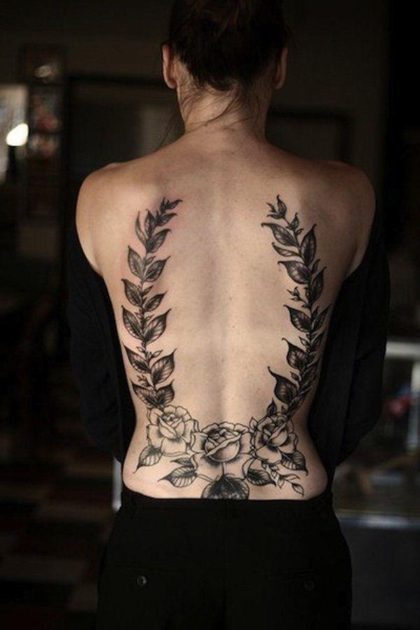 spine tattoo designs for ladies