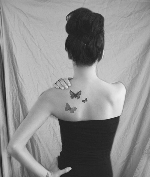 small butterfly tattoo designs for women back
