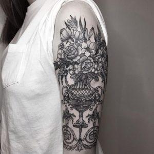 mandala flower pretty tattoos for women arm