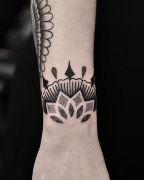 mandala  Wrist Tattoos for Women