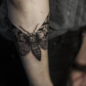 black butterfly female forearm tattoos pictures
