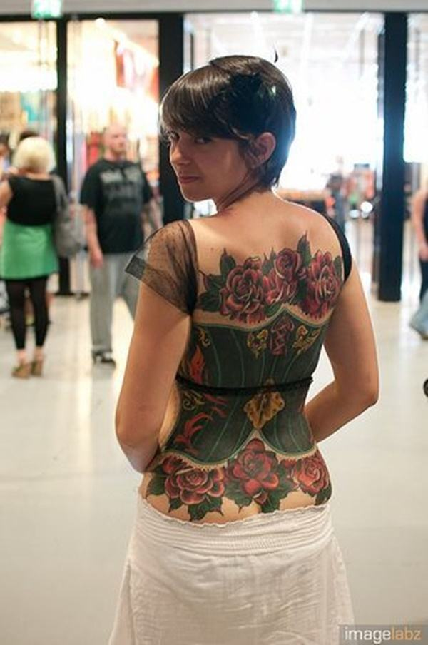 flower spine tattoo ideas female pictures
