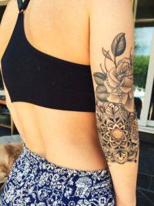 mandala rose full sleeve womens tattoos on arm images