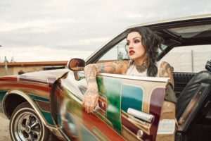 colourful arm sleeve tattoo ideas for females