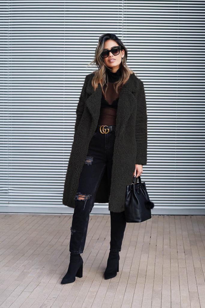 4752e29553d49 Women Fur Coat 2018 Winter Fluffy Shaggy Faux Long Fur Coat Thick Warm  Jacket Black Teddy Bear Coat Plus Size 3XL Outwear Pele