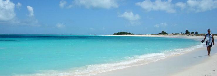 An epitome of a Caribbean beach