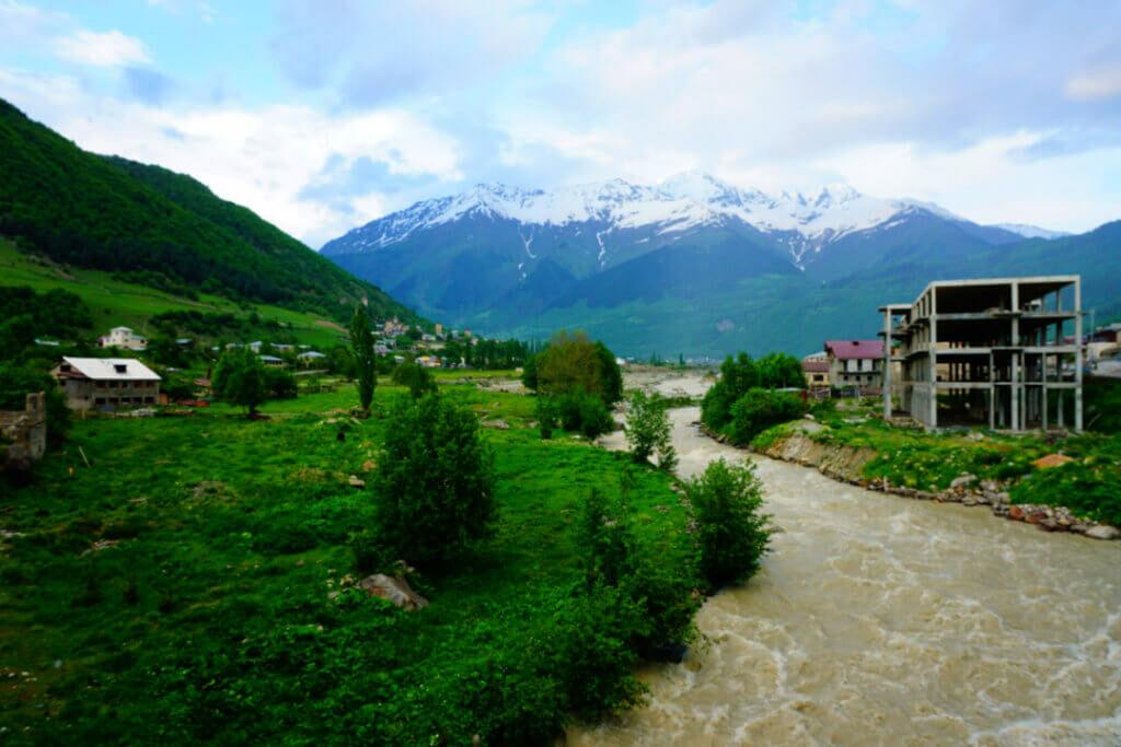 Mestia is the main town in the mountainous region