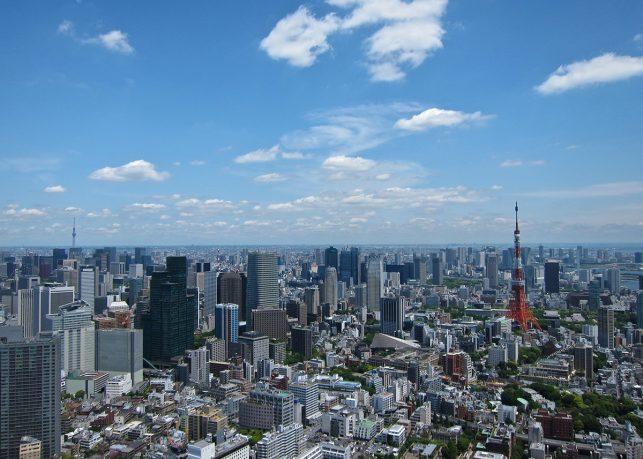 international flights arrive in Tokyo