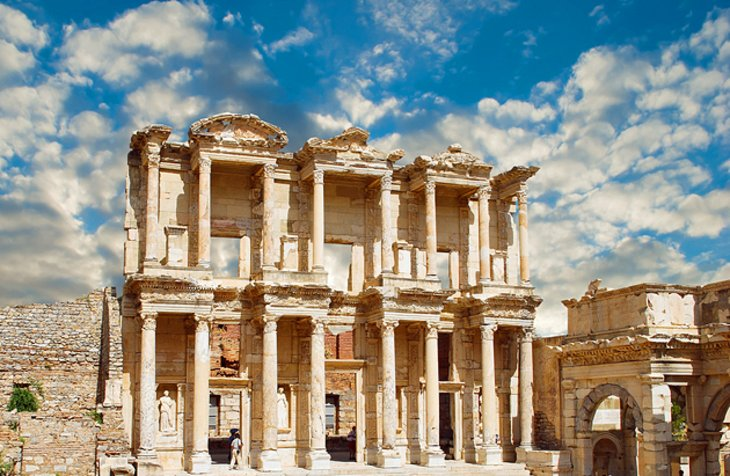Ephesus is a city of colossal monuments and marble-columned roads