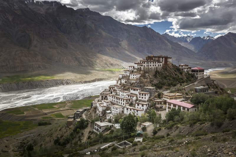 Spiti Valley is a desert mountain valley located in between Tibet and India.