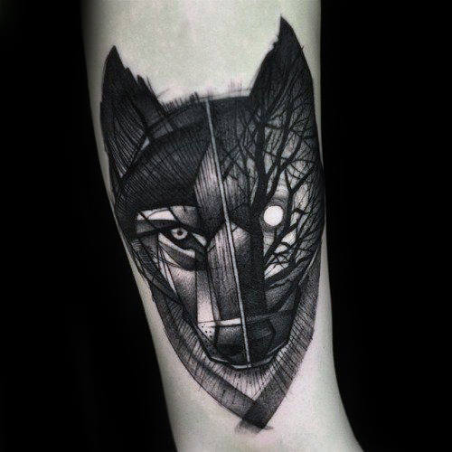 new Striking Wolf Tattoo Designs with Meaning