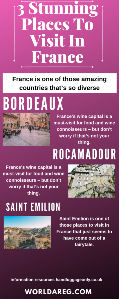 Charming places to visit in France in
