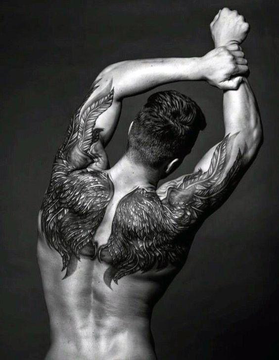 upper back tattoos for guys design