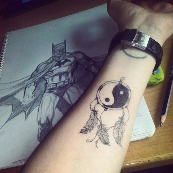 arm pisces yin yang tattoo designs images