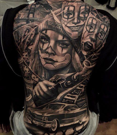 men full back body tattoo ideas images